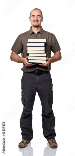 man with books