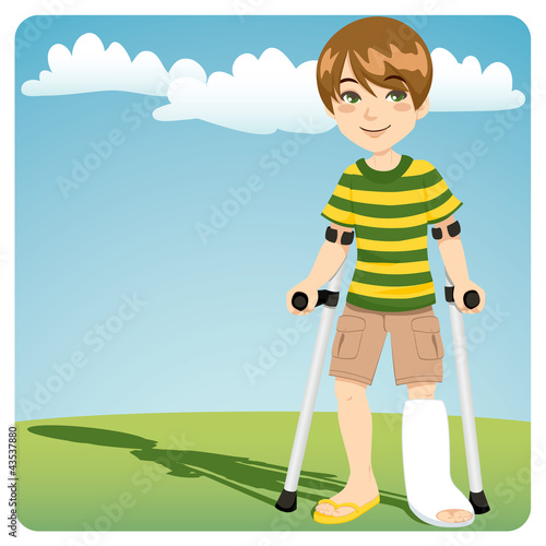 Boy With Broken Ankle