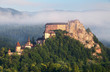 Beautiful Slovakia castle at sunrise - Oravsky hrad