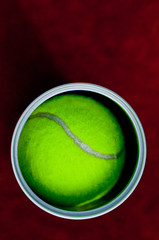 Ein Tennisball in der Balldose