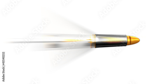 Silver gold bullet missile rocket motion speed illustration