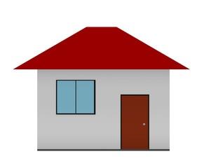 Ilustración de una casa en fondo blanco.