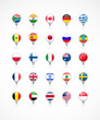 navigation pointer icons with world flags