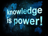 Fototapety Education and learn concept: pixelated words knowledge is power