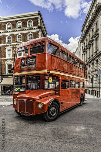 Deurstickers Londen rode bus Double Decker London