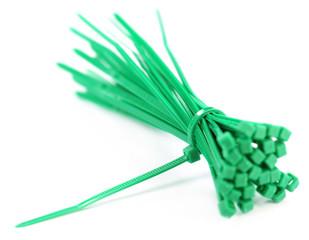 Green zip tie