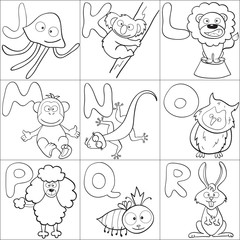 Coloring book with alphabet 2