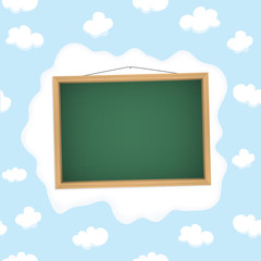 Blackboard hangs on a cloud