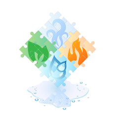 Puzzle of the 4 elements