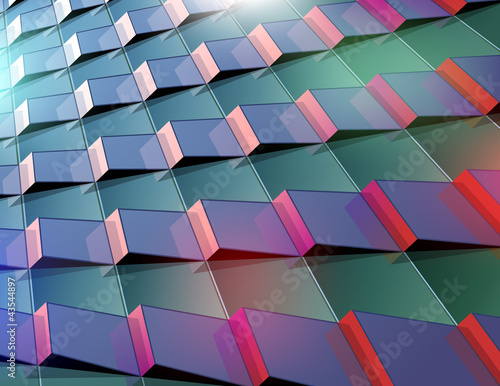 Abstract  vector background with urban elements and reflection