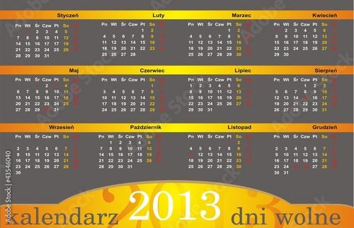kalendarz 2013 dni wolne od pracy