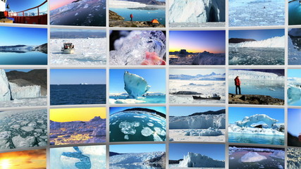 Montage 3D images from the Polar regions