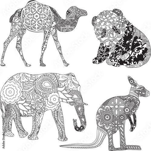 animals in the ornamentation