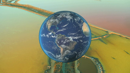Montage Global View Earth Environment