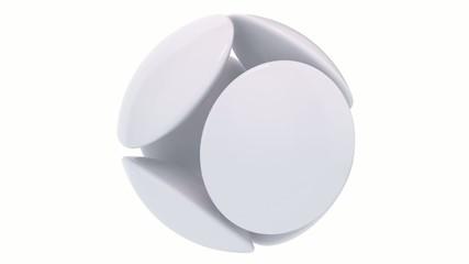 white design logo rotating