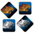 tiger icon set