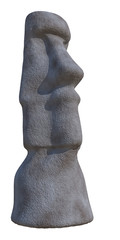 statue of Easter Island on a white backgrpund