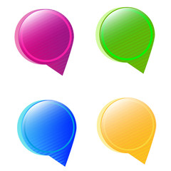 Round bubbles for speech.Vector set