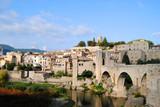 Vista del pueblo de Besalu. Catalunya poster