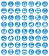blue icons accommodation