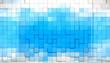 fondo abstracto de cubos en tono azul