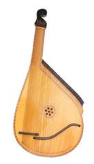 Retro bandura- Ukrainian musical instrument isolated on white