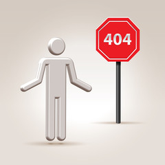 error 404 illustration