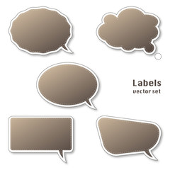 Set of blank labels