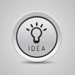 Bulb light idea button grey