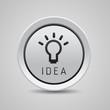 Bulb light idea button grey