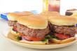 Platter of hamburgers