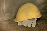 Helmet and gloves