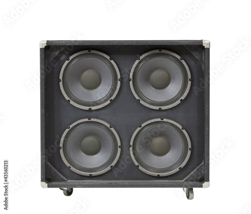 Guitar Amplifier Speaker Box with Clipping Path