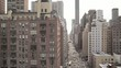 New York City Street Areal helicopter birds view