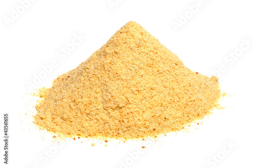 Bread Crumbs (Rusk Flour) Isolated on White Background