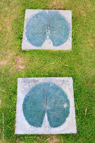 Foto op Plexiglas Indonesië Stone walkway winding in garden
