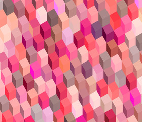 abstract cubical multiple pink red pattern backdrop