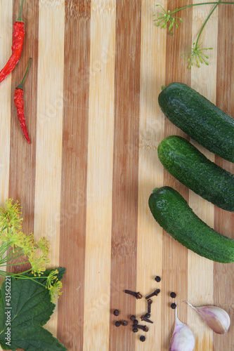 Prepare cucumbers for canning