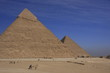 Pyramids of Khafre and Khufu with blue sky, Cairo, Egypt