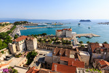 Fototapety SPLIT, CROATIA - JULY 2: Aerial View on Diocletian Palace and Ci