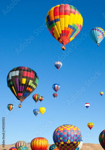 Colorful Hot Air Balloons on a Sunrise Flight - 43565033