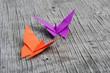 Farfalla orgimani arancio e viola