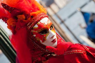 Maschera al carnevale di Venezia