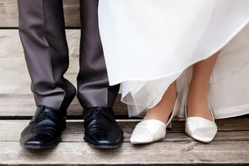 Brautpaar Füße