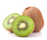 Fototapety Whole kiwi fruit and his segments