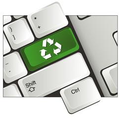 Teclado reciclo