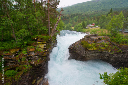Waterfalls and beautiful mountain rivers of Norway