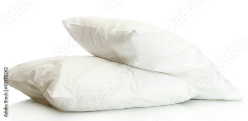 pillows isolated on white