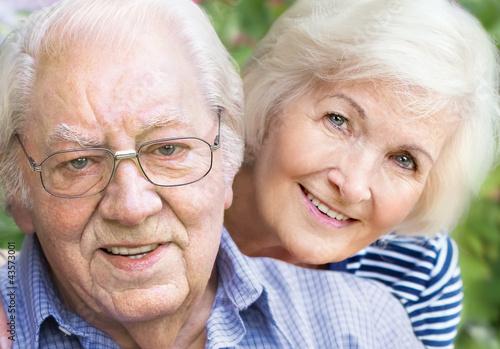 Seniorenpaar, Porträt