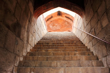 Beautiful stairs of Humayun tomb monument